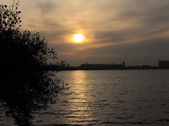 Free sunset mar rio de janeiro brazil sky travel