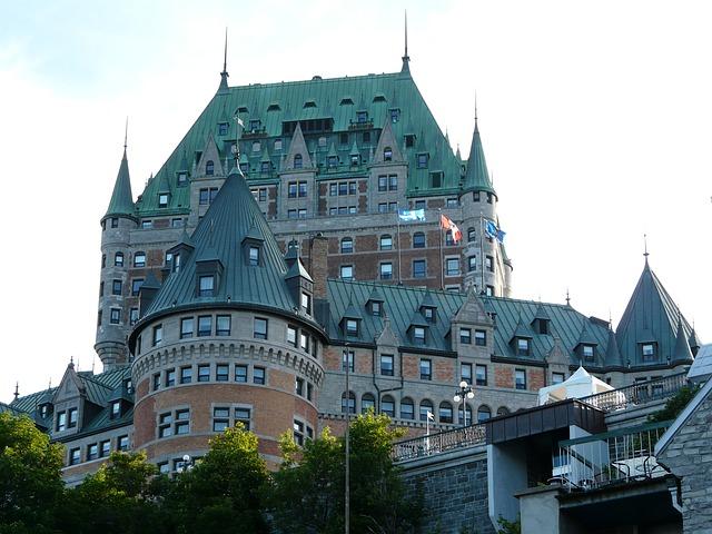 Free castle quebec city frontenac canada old