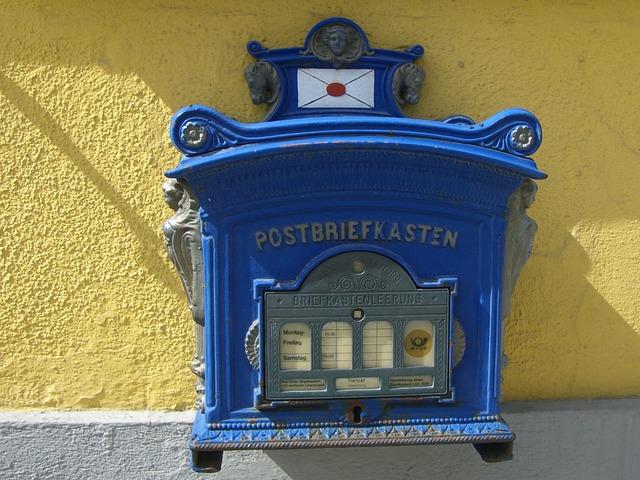Free post mail box nostalgia mailbox blue letter boxes