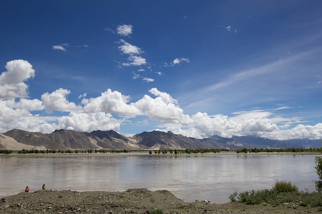 Free river water cloud blue sky tibet