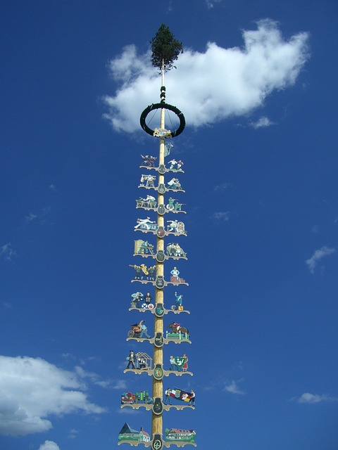 Free maypole may tradition sky blue cloud clouds oy