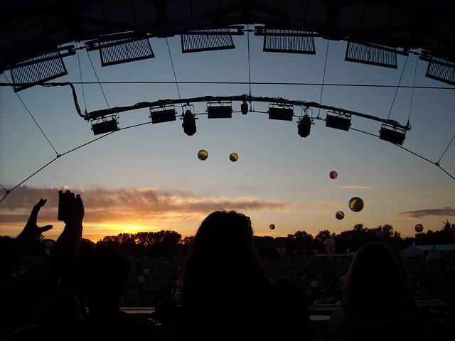 Free sunset festival techno landscape twilight sky
