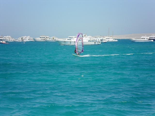 Free surfer water sports yachts sea beach egypt