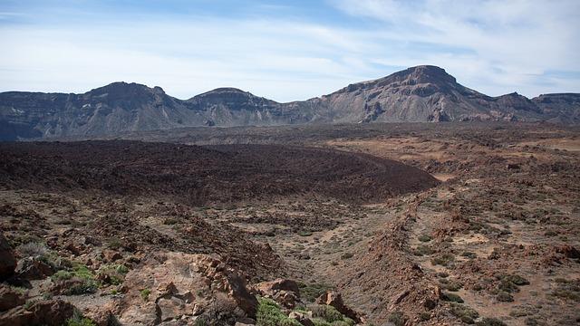 Free nature volcano pico del teide lava flow cold