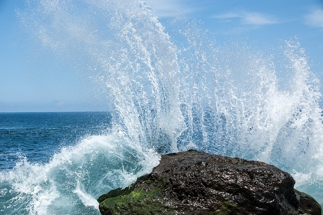 Free wave water ocean inject tenerife nature