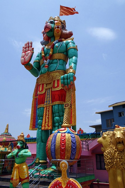 Free statue temple hanuman monkey-god