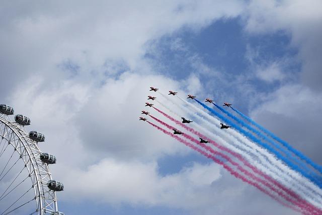 Free red arrows aerobatics formation bae hawk trainer