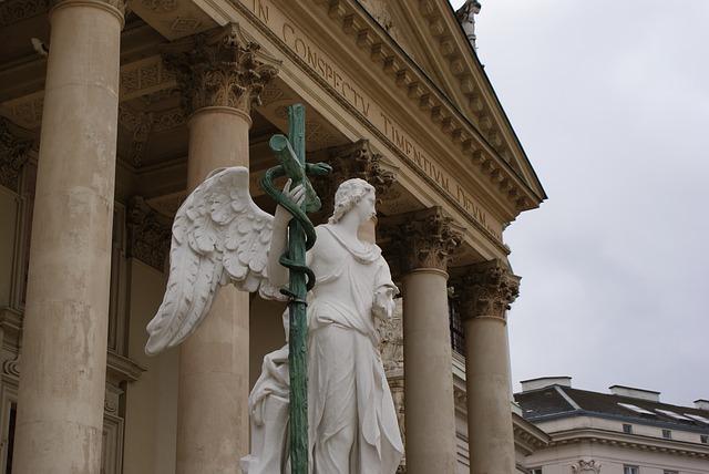 Free vienna architecture church statue angel religion