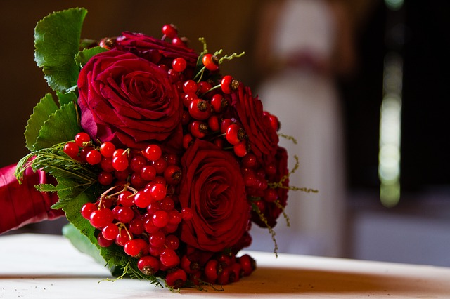 Free bridal bouquet roses red flowers rose bloom flower