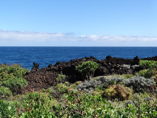 Free la palma canary island cliffs sea vision clouds