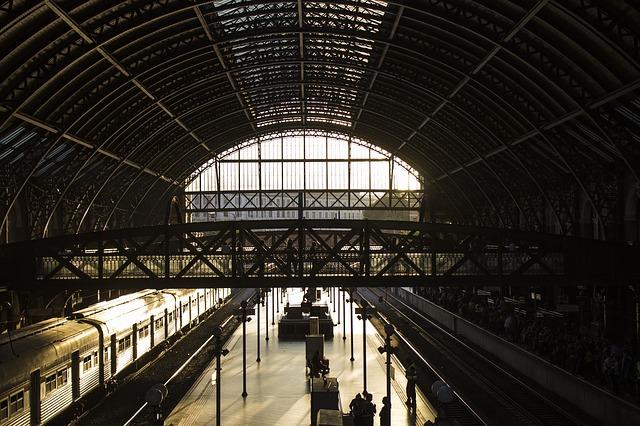 Free station train railway old train station
