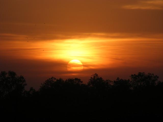Free sunset landscapes golden sunset