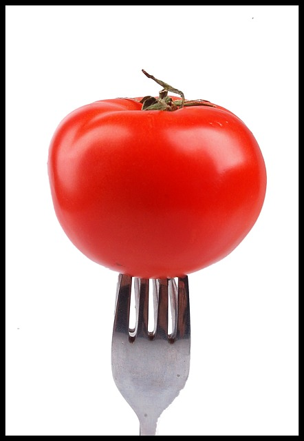 Free tomato fork tomato red cutlery eating