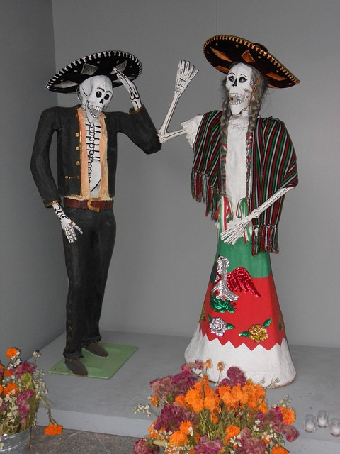 Free day of the dead mexico skeleton skull charros