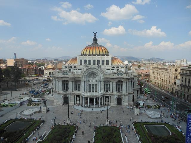 Free fine arts palace mexico sky clouds