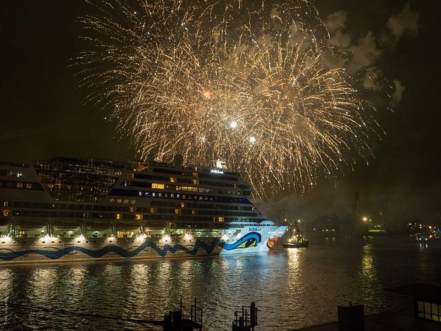 Free Photos: Hamburg night hafengeburtstag cruise ship germany | Andi Graf