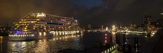 Free hamburg night hafengeburtstag cruise ship germany