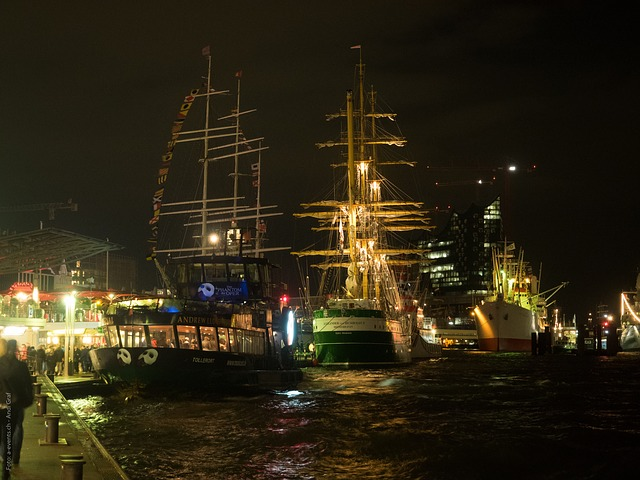 Free hamburg night hafengeburtstag sailing vessel sail