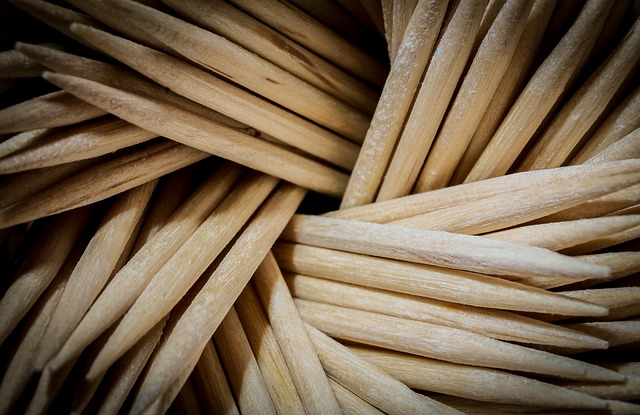 Free toothpick macro texture surface wood meal