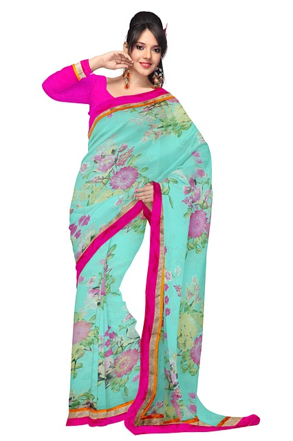 Free fashion silk dress woman model clothing indian