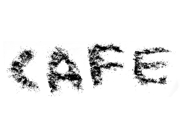 Free cafe the inscription grains coffee isolated