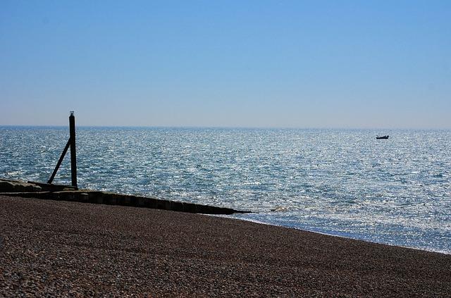 Free beach ocean sky fishing boat