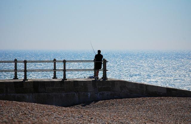 Free fisherman sea beach jetty
