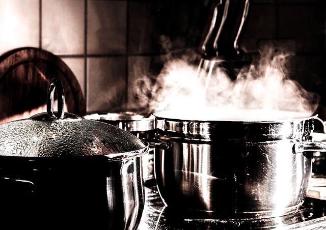 Free kitchen cook pots cooking pot steam smoke eat