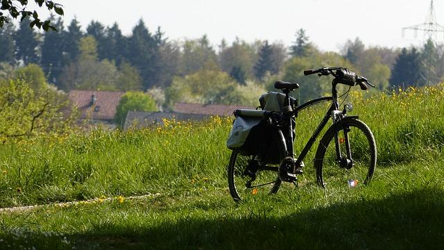 Free bike bike ride landscape meadow grass nature