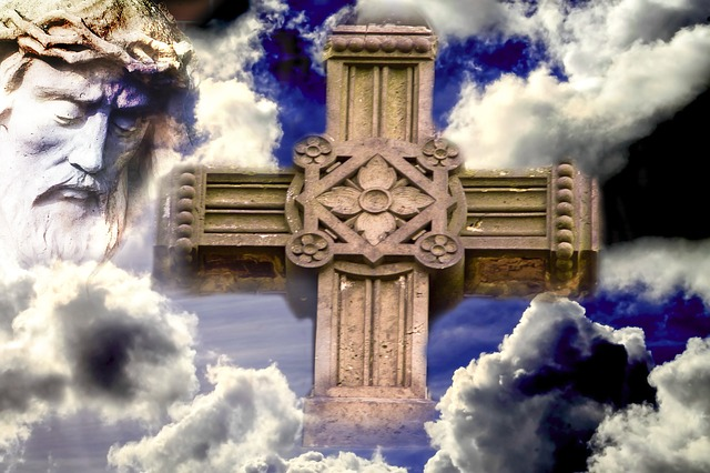 Free jesus clouds christianity cross sign of the cross
