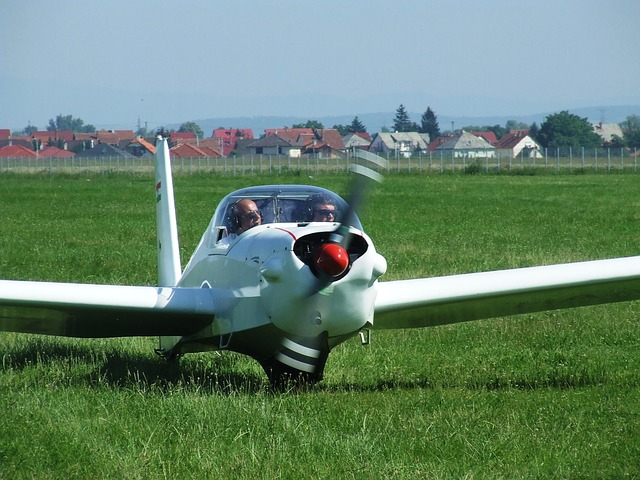 Free light aircraft flight airport miskolc hungary