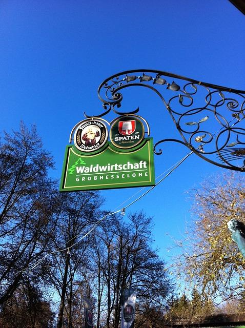 Free forestry beer garden sky blue beer munich