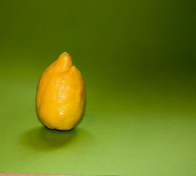 Free lemon fruit yellow sour tart