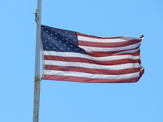 Free flag red white blue us american united states