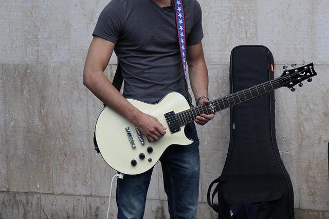 Free performance guitar man african american