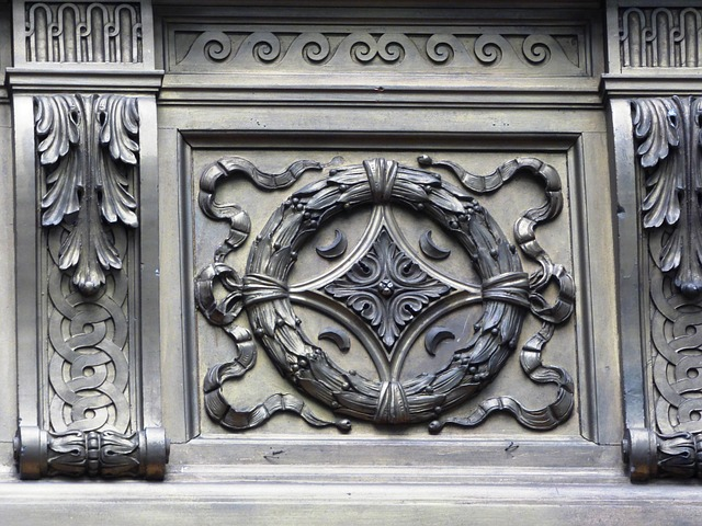 Free rosette sculpture emboss ornament fine art