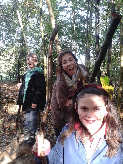 Free woods children mud