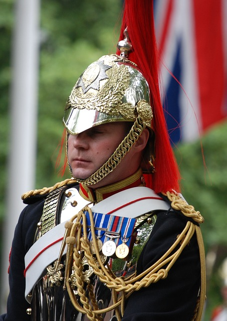 Free uniform household cavalry soldier england close-up