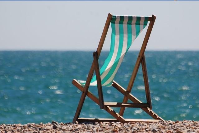 Free deckchair seaside sea water