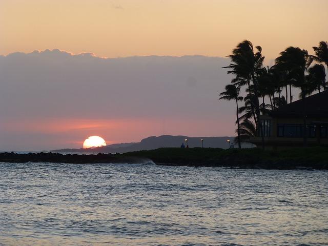 Free kauai hawaii beach sand rocks coast cliff