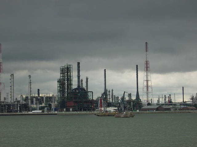 Free antwerp port belgium dark weather slurry sky