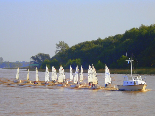 Free sailing sailing boat river argentina buenos aires