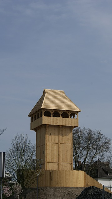 Free tower wood wooden tower fortress