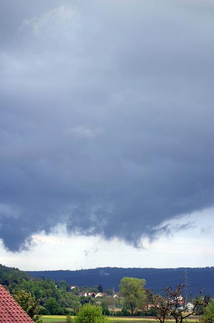 Free rain front clouds weather blue rain mood drama