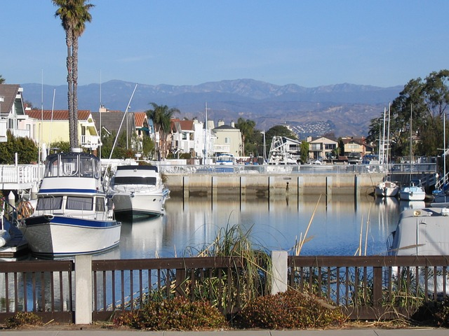Free oxnard california marina boats mountains distance