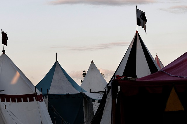 Free medieval market army camp tent tips sky clouds