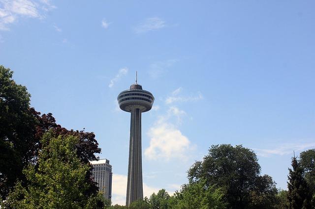 Free sky needle niagara falls downtown town canada