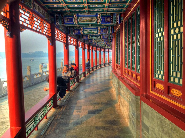 Free beijing china corridor beihai temple