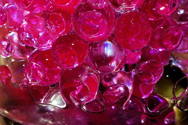 Free glass ball openings water filled modern red