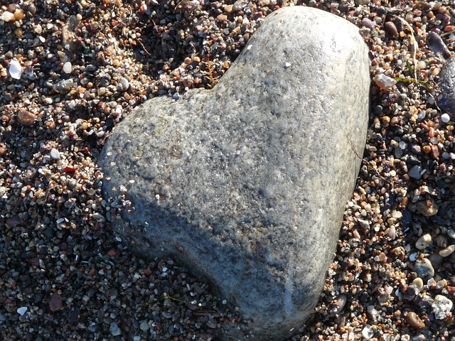 Free heart stone sand stone heart brown grey love